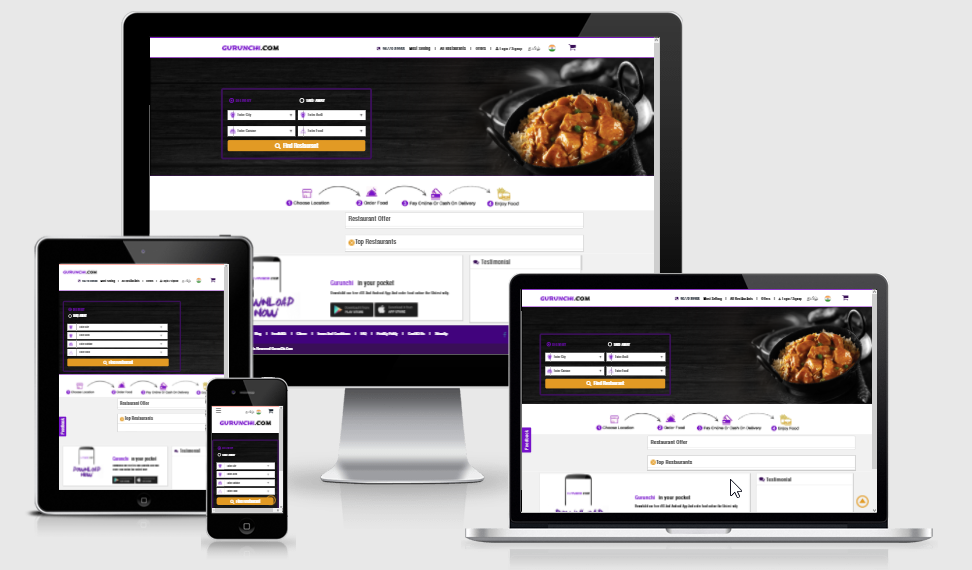 Gurunchi - Online Food Order Website
