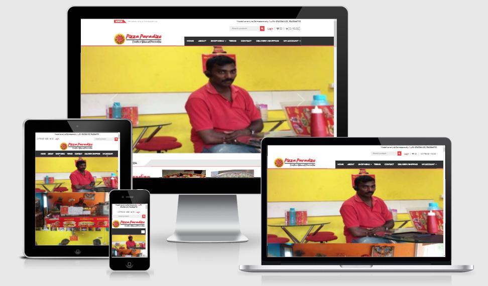 Pizzaparadize - Online Delivery e-commerce website